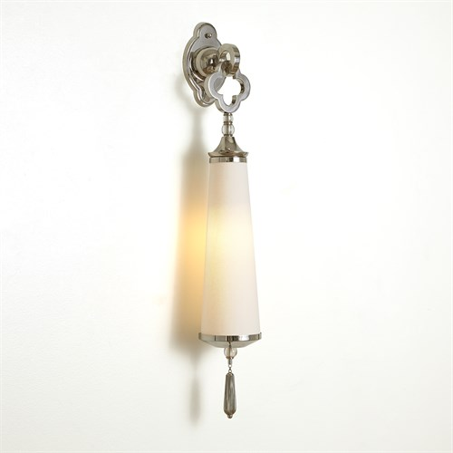 Quatrefoil Sconce-Nickel-HW