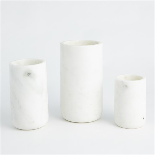 Simple Marble Vase-White