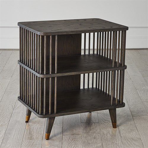 Arbor Three Tier Side Table-Smoke