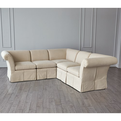 Slipper Sectional-Flax