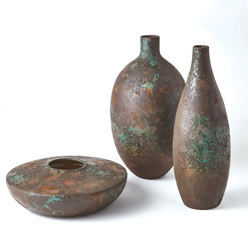 Patina Vase-Aged Brown