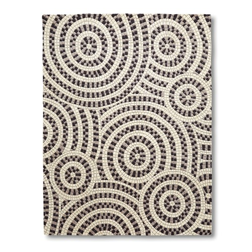 Mosaic Rug-Ivory/Grey/Black