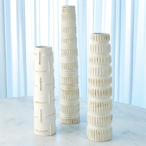 Totem Vases-Antique White
