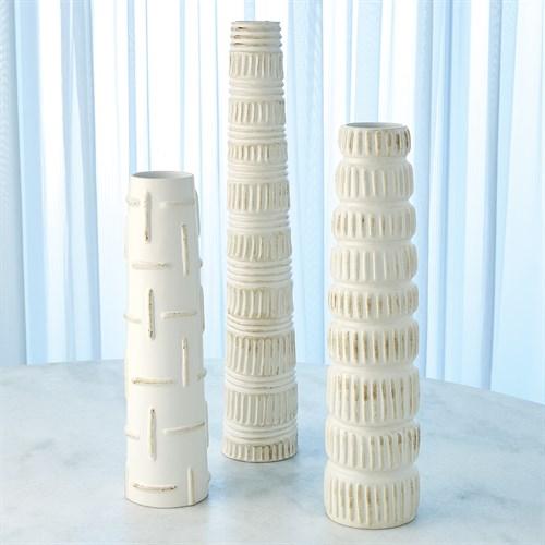 Totem Vases-Antique White