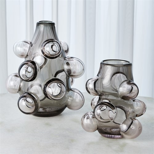 Bubbled Vase-Smoke Grey