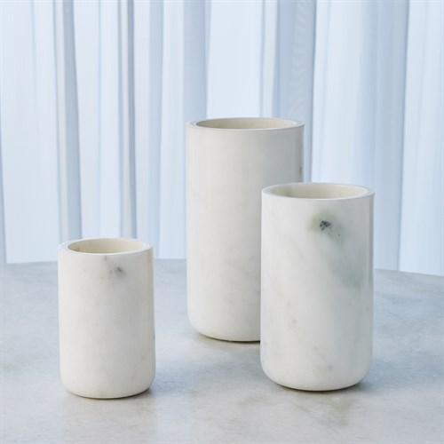 Simple Marble Vase-White