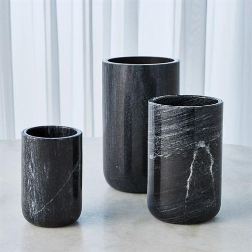 Simple Marble Vase-Black