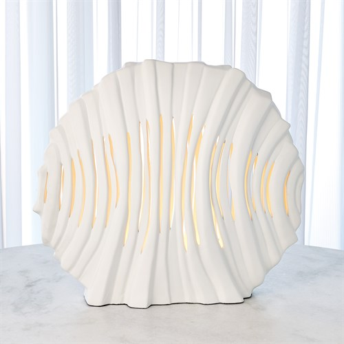Striated Lamp-Matte White