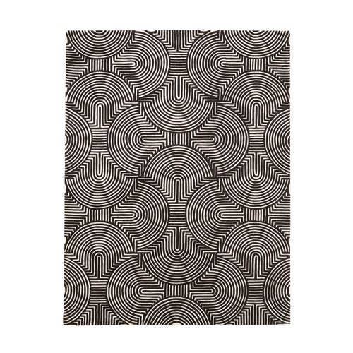 Arches Rug-Black/Ivory