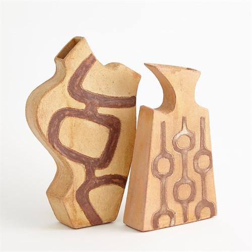 Mod Link Vase- Light Terracotta