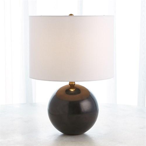 Marble Sphere Lamp-Black