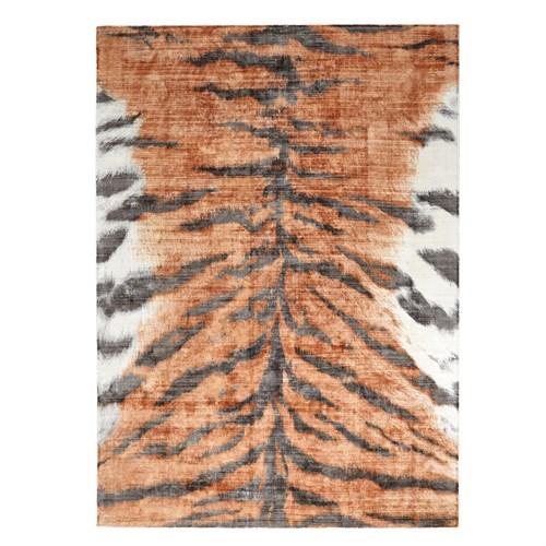 Tiger Stripe Rug-Orange