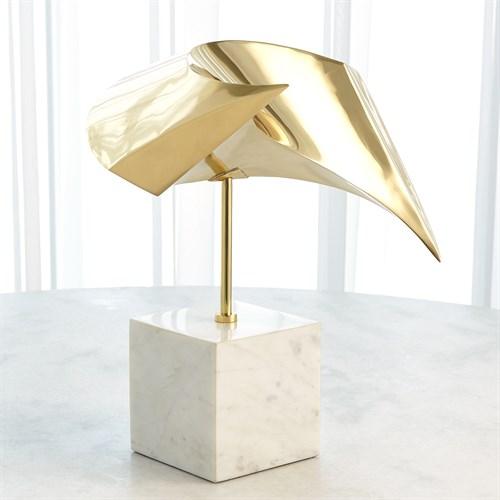 Wave Sculpture-Brass