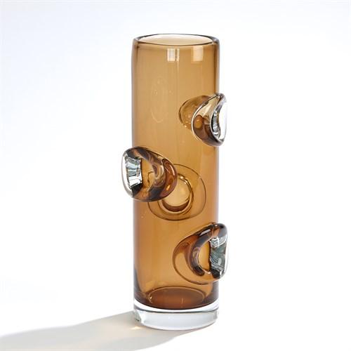 Halo Cylindrical Vase-Tobacco
