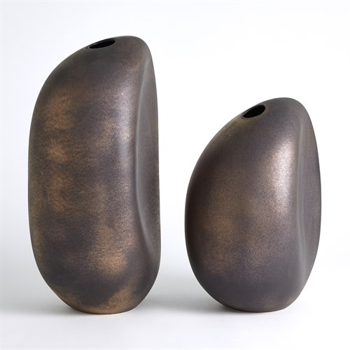 River Stone Vases-Bronze