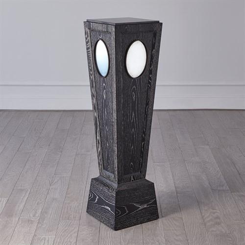 Proust Pedestal-Black Cerused Oak