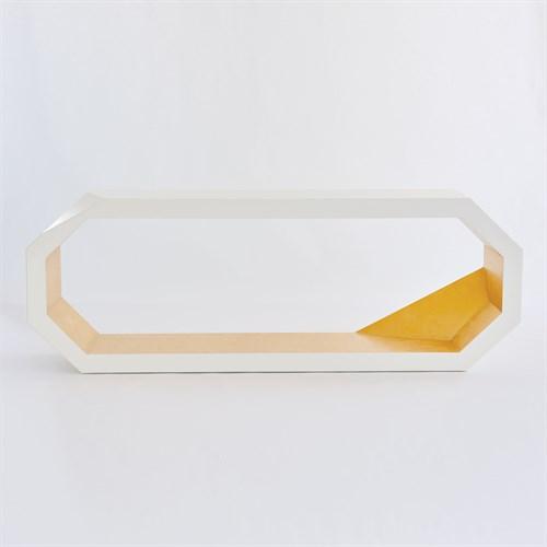 Facet Console-Gold Leaf