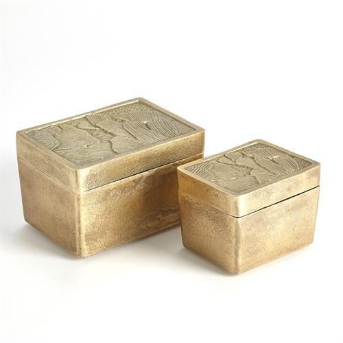 Flora Boxes-Antique Brass