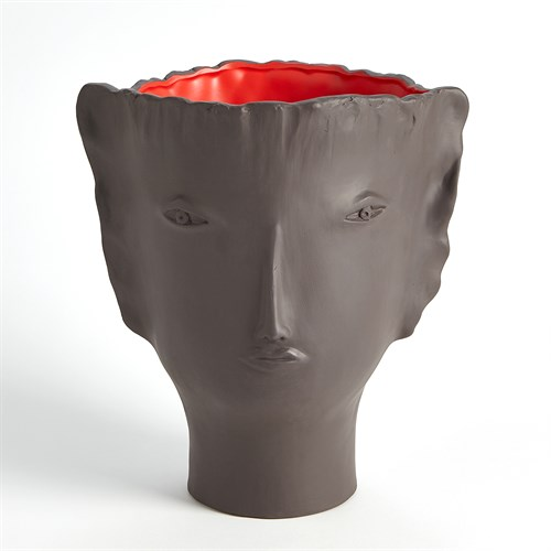 Calisto Vase-Brown/Red