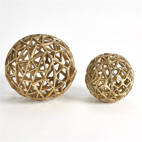 Jali Balls-Antique Brass