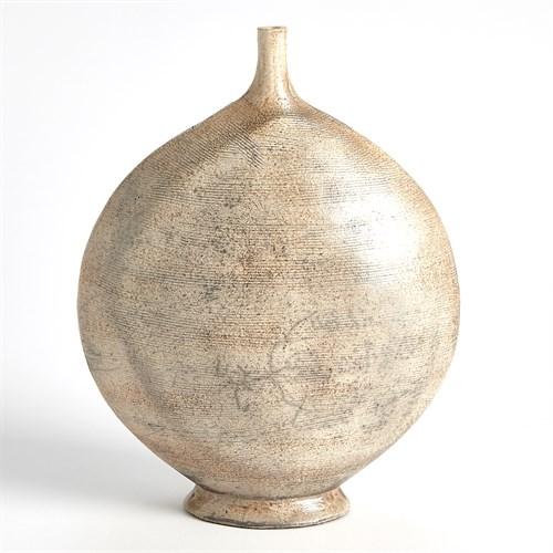 Round Raku Vase-Sand