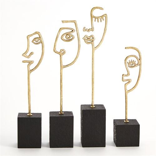 Scribble Sculptures-Polished Brass