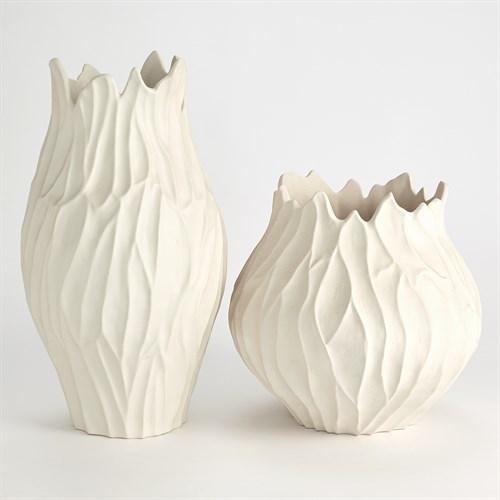 Bloom Vases-Matte White