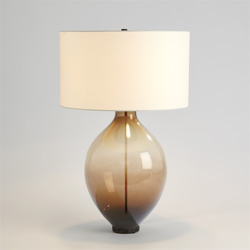 Amphora Glass Table Lamp-Topaz
