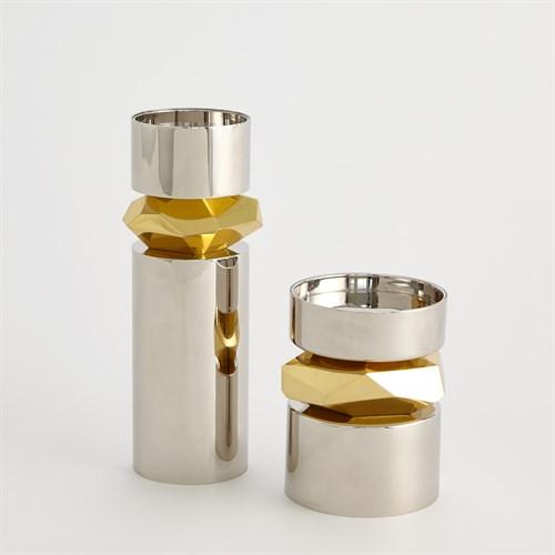 Romano Nickel Candle Holders