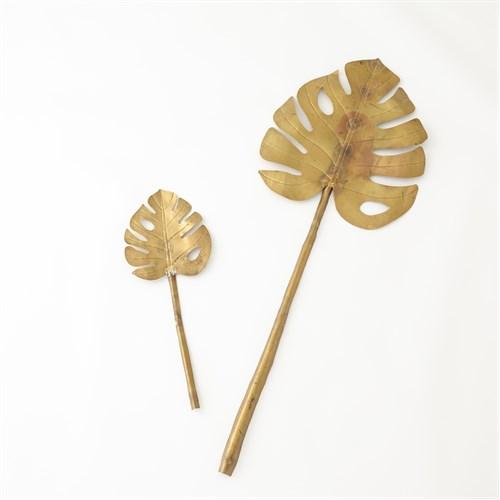 Brass Monstera Leaf
