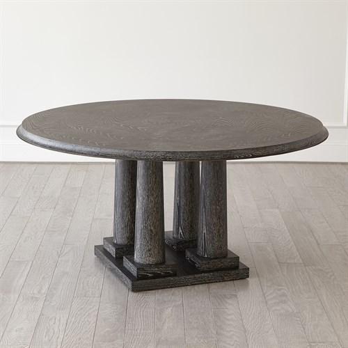 Titian Dining Table-Black Cerused Oak-60