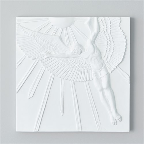 Winged Plaster Wall Panel