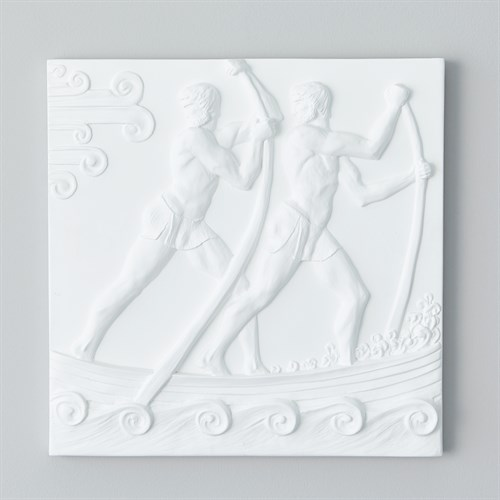 Rowers Plaster Wall Panel