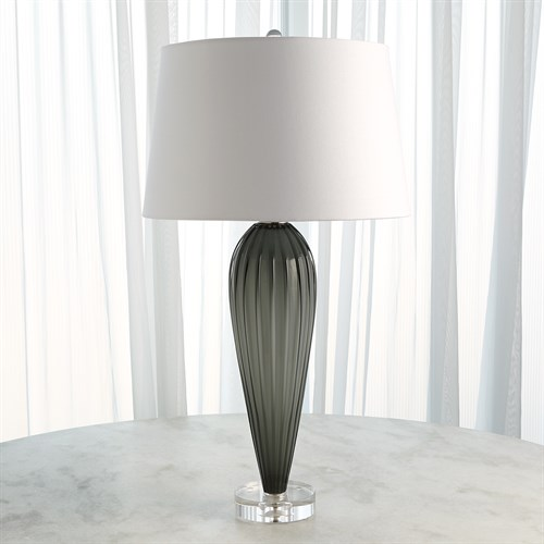 Teardrop Glass Lamp-Grey