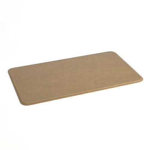 Radius Edge Leather Desk Blotter-Putty