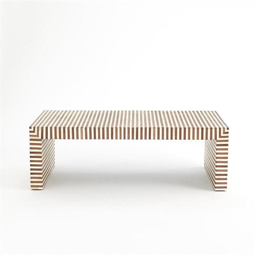 Sienna Coffee Table-Walnut/Bone