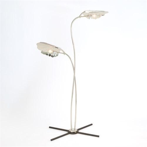 Rimini Floor Lamp-Nickel