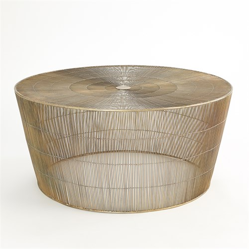 Radiance Coffee Table-Antique Brass
