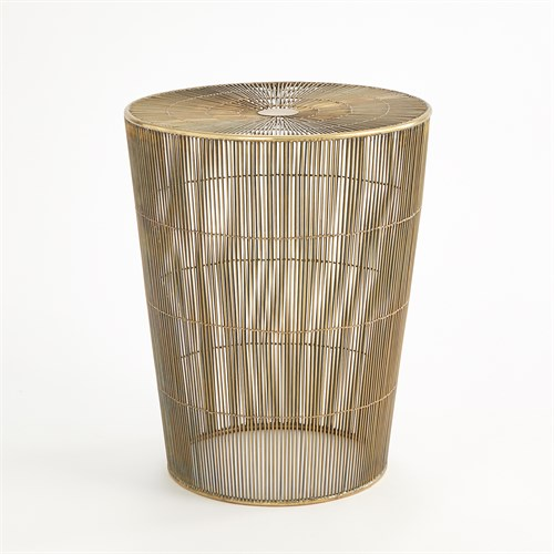 Radiance Side Table-Antique Brass