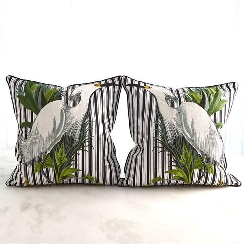 Snowy Egret Pillows