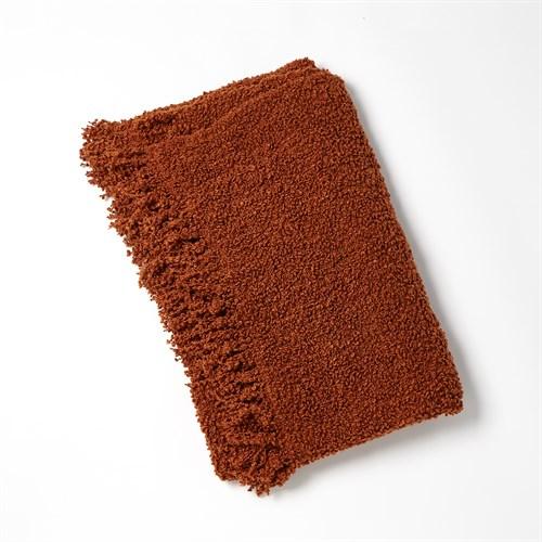 Textured Boucle Throw-Rust