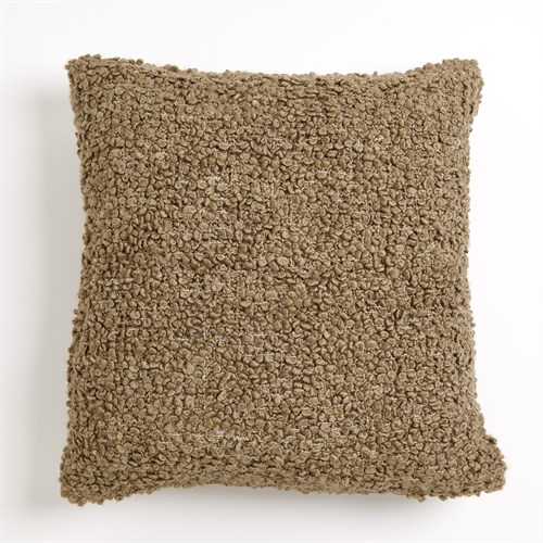 Textured Boucle Pillow-Olive