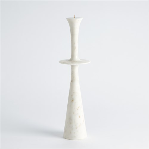 Center Flair Candle Stand-White