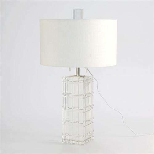 Crystal Plaid Lamp