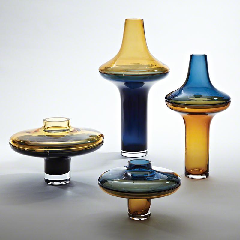 Amber / Cobalt Vase