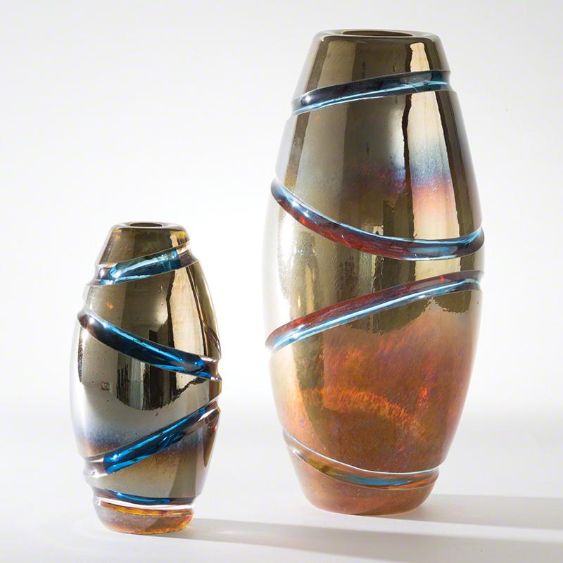 Cut Vase-Blue