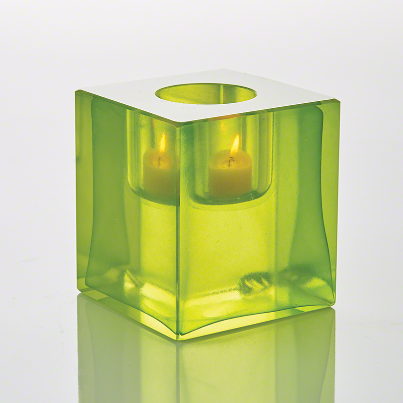 Block T-Lite Holder-Lime