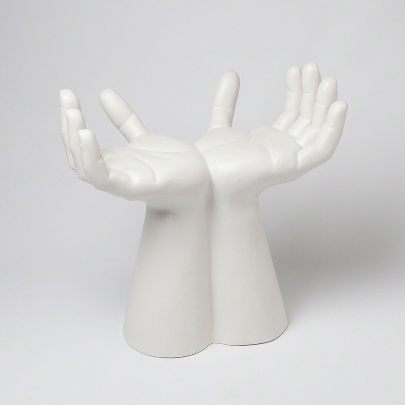 Hands Stool-Matte White