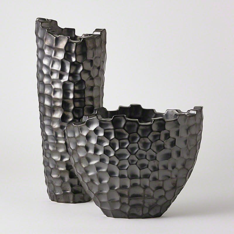 Random Grid Vases-Graphite