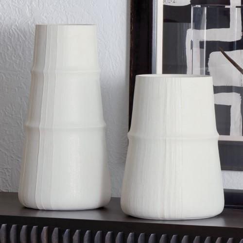 Linen Vase-Soft White